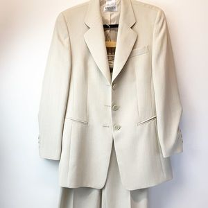 Basler cream colored suit coat and pants 90's vibe